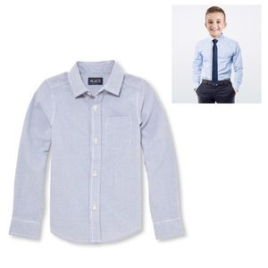 NWT Blue Checkered Long Sleeve Dress Shirt XS(4)